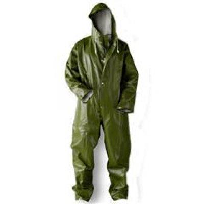 Dolfing Spuitoverall en regenoverall zonder zakken groen