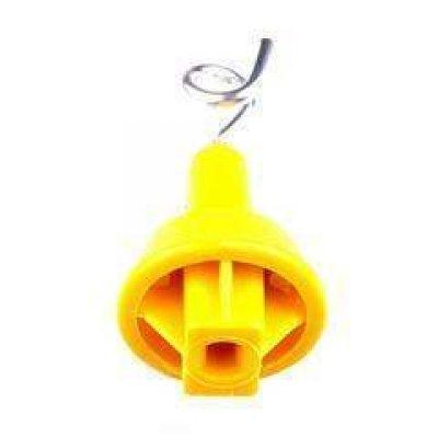 Topisolator met krul, geel ovaal