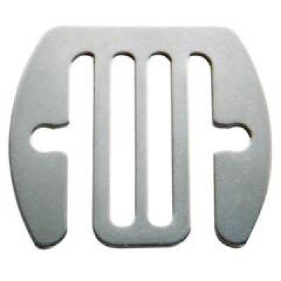 AKO Schriklint aansluitplaat RVS 2cm5 stuks