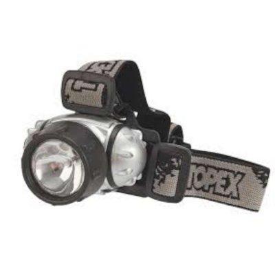 Topex Hoofdlamp Krypton + 3 LED