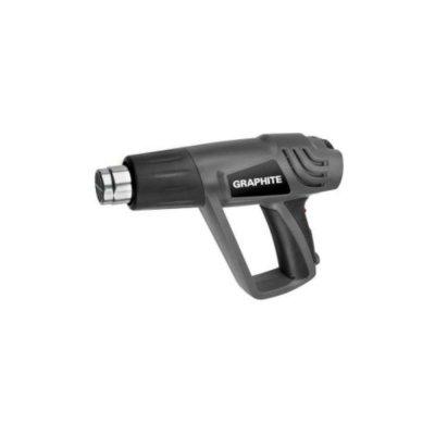 Graphite Heteluchtpistool 2000 watt 3 temp. standen 25-350-550 graden Bi-metale bescherming
