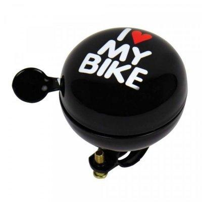 Dresco fietsbel Ding Love My Bike 60mm