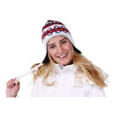 Norsk wintermuts wit/rood