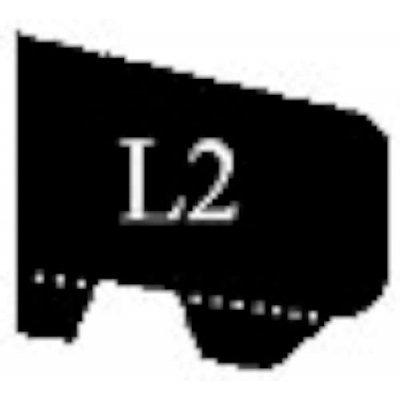Glaslat l2 20x25.5mm 230cm gegrond