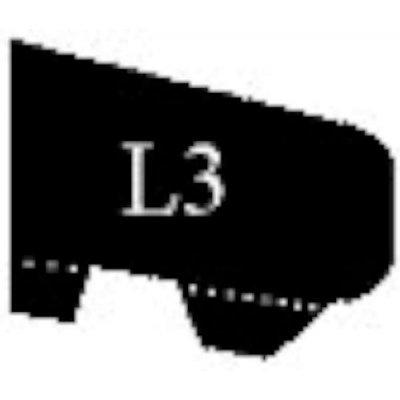 Glaslat l3 21x30mm 230cm gegrond