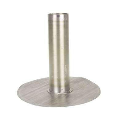 Plakplaat lood 25 pond zonder kiezelrand rond 30cm uitloop 80mm
