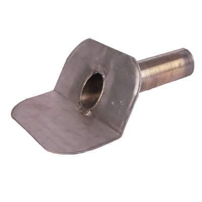 Plakplaat lood 25 ponds gesloten uitloop 80mm 45 graden zonder kiezel rand 30cm