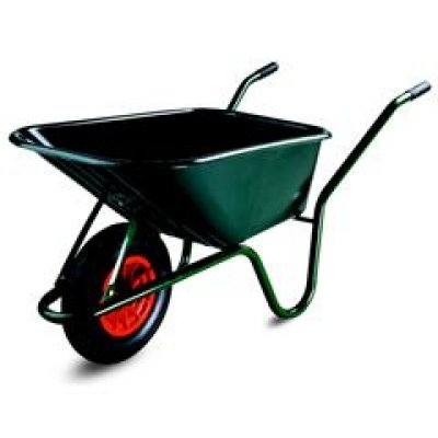 Limex Kruiwagen 100 Liter groene PP bak gelakt onderstel