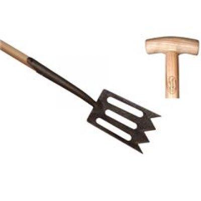 Spork met zwanehals, essen steel 75cm