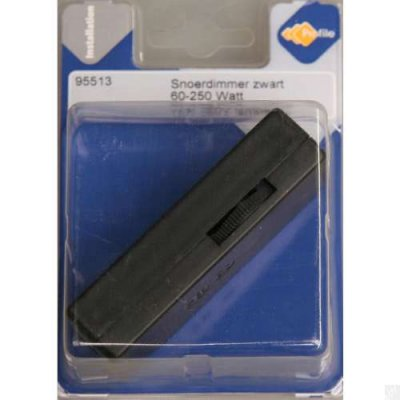 Snoerdimmer gloeilamp 60-250 watt zwart