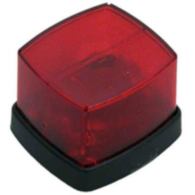 zijlamp rechthoek 60x65mm rood