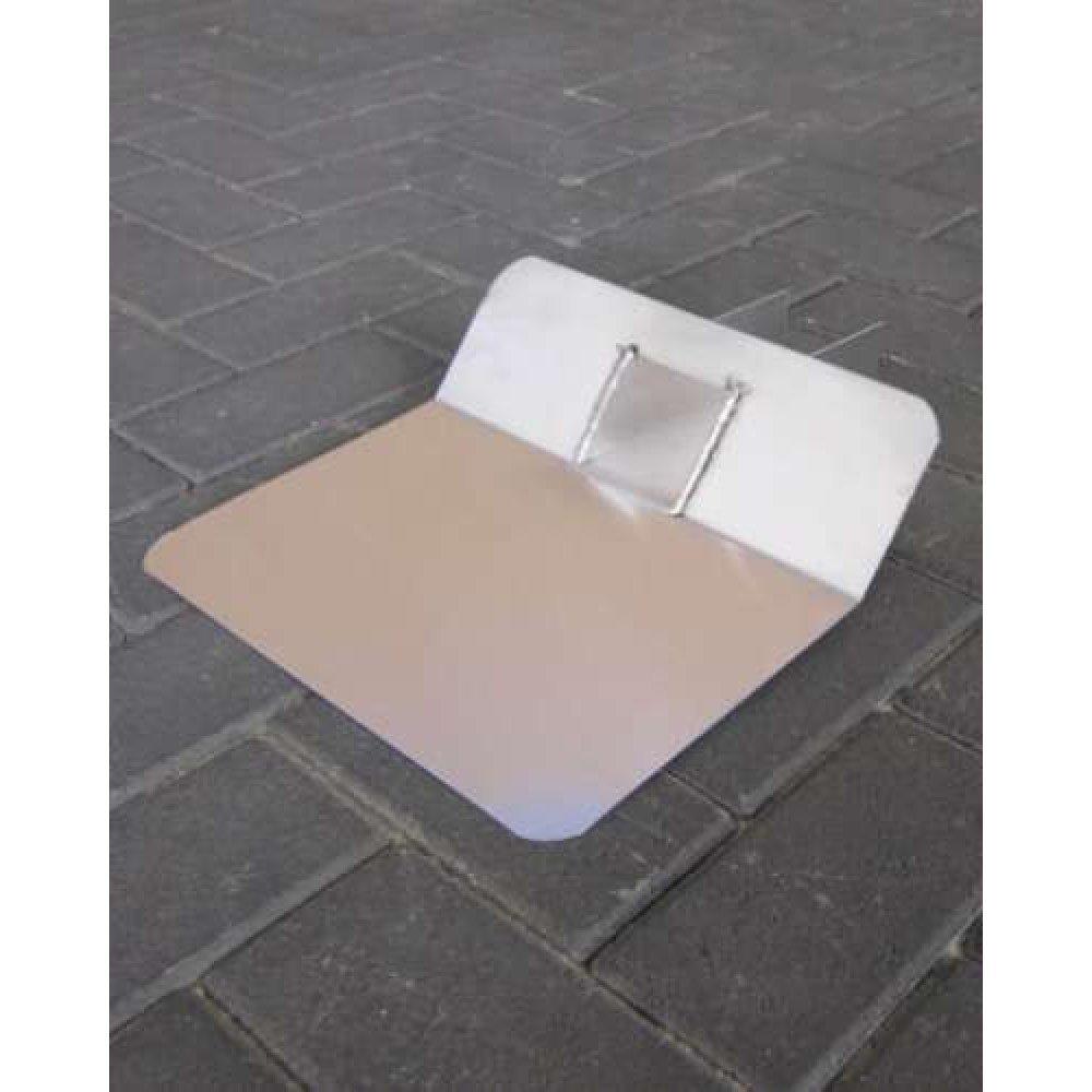 Plakplaat lood 25p gesloten uitloop 60x100mm 45 graden zonder kiezel 30cm