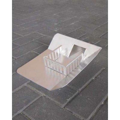 Plakplaat aluminium open Hoek Rechts met kiezel 33cm