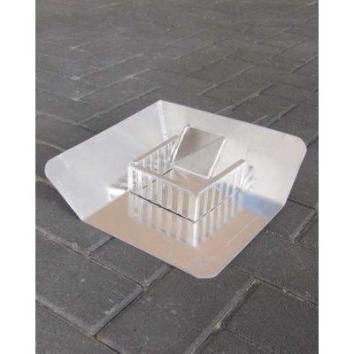 Plakplaat aluminium open Hoek links met kiezel 33cm