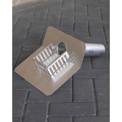 Plakplaat aluminium rond 45 graden met kiezel 33cm