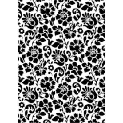 Decoratiefolie wit/zwart bloem 45cm