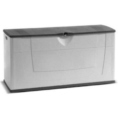 Kunststof kussenbox 119x40x59cm grijs zwart