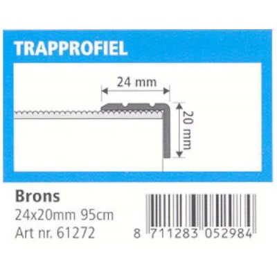 trapprofiel 24x20mm brons