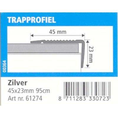 trapprofiel 45x23mm aluminium