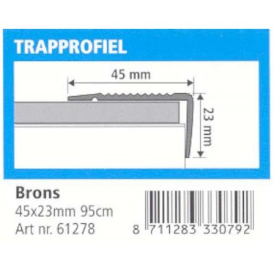 trapprofiel 45x23mm brons