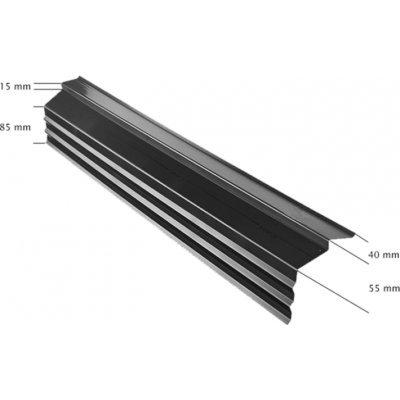 Ubbink Onderpanprofiel 1500mm zwart