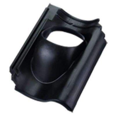Ubbink pan ovh type 131mm Zwart