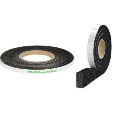 Compriband zwart 10x1.5-2.5mm