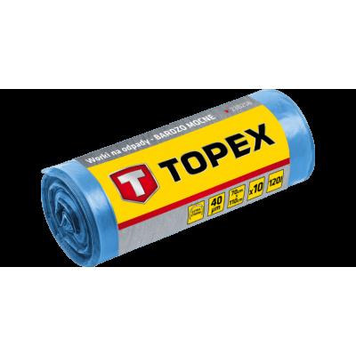 Topex Vuilniszakken Grofvuil 110x70cm PE Blauw 10 Stuks
