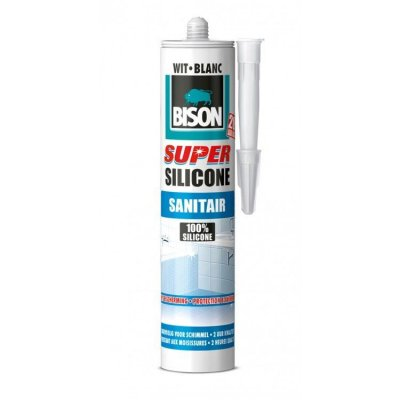 Bison siliconen sanitair super wit