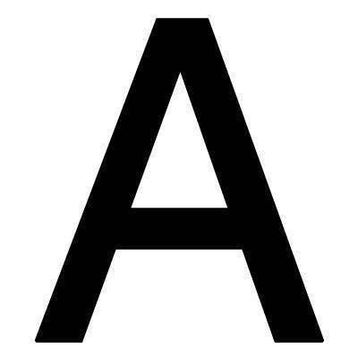 Pickup Plakletter 40mm Zwart Lettertype Helvetica