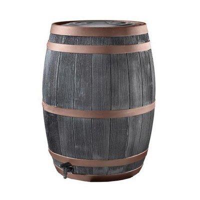 Regenton Black Oak bronzen band compleet 190 liter