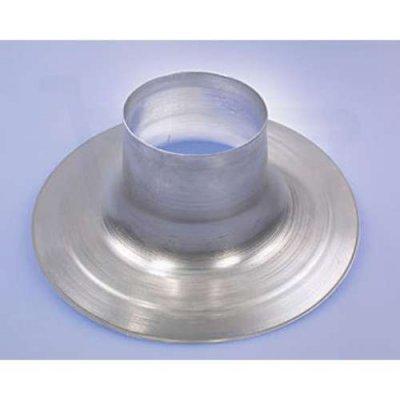 Plakplaat 125mm aluminiumvoor ontluchtingskap