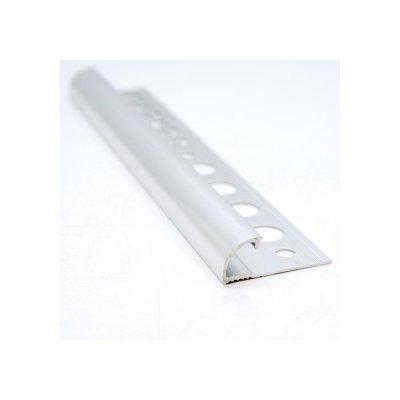tegelstrip aluminium rond zilver 8mm