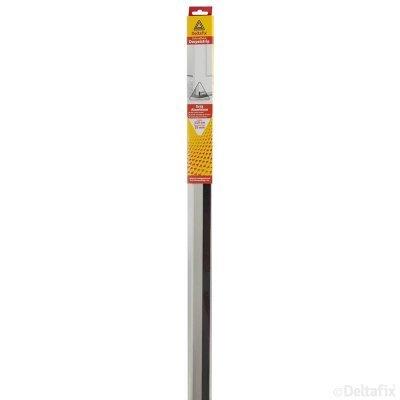 DELTAFIX DORPELSTRIP LUXE Borstel Schroefbaar 110cm  36mm ALUMINIUM