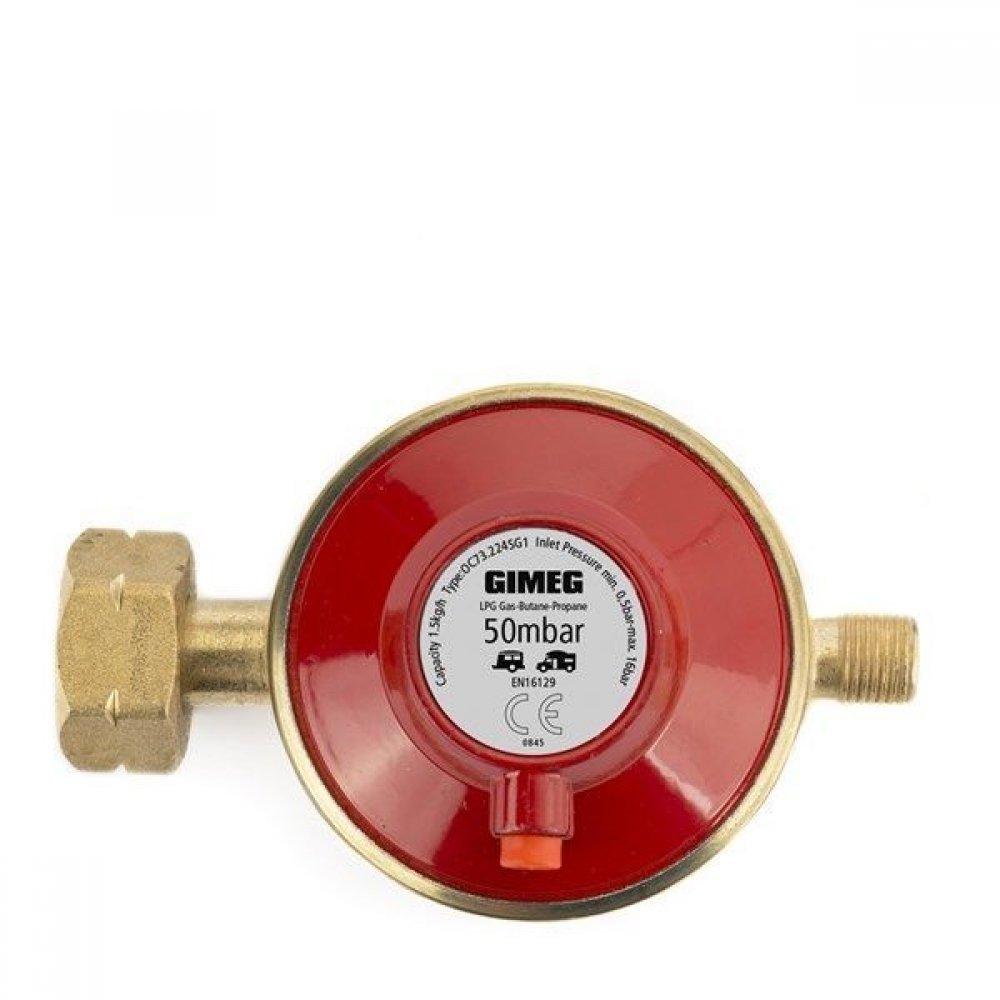 Gimeg universele gasdrukregelaar 1/4 inch links met afblaasbeveiliging 30Mbar Gas Onderdelen