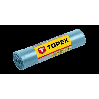 Topex Vuilniszakken Grofvuil 90x60cm PE Blauw 5 Stuks