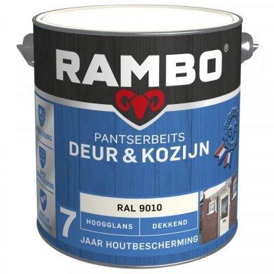 Rambo Deur en Kozijn pantserbeits hoogglans dekkend RAL 9010 2500ml