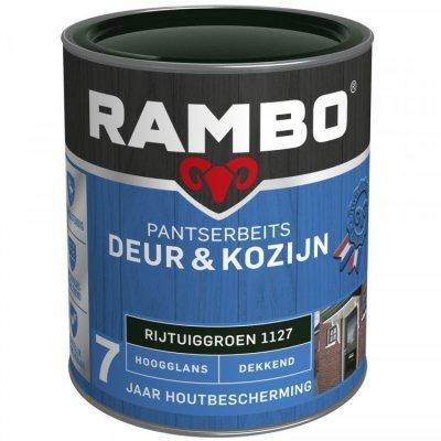 Rambo Deur en Kozijn pantserbeits hoogglans dekkend rijtuig groen 1127 750ml