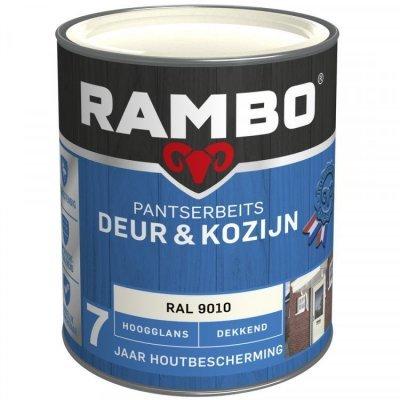 Rambo Deur en Kozijn pantserbeits hoogglans dekkend RAL 9010 750ml