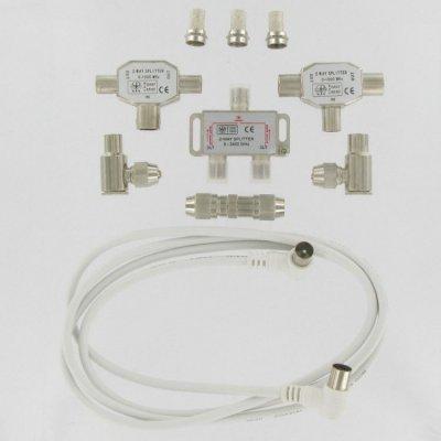 Kopp digitale coax vervangset 6.5 mm 1.5 meter