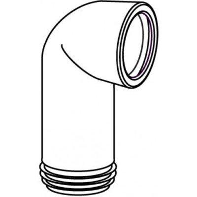 Wisa closetafvoerbocht met manchet 110mm met spie wit 303C