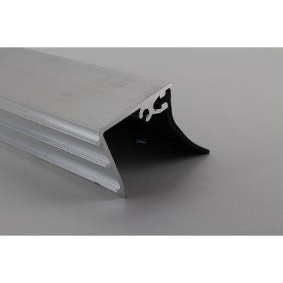 Pext Muuraansluitprofiel met zwart afsluitrubber 56mm