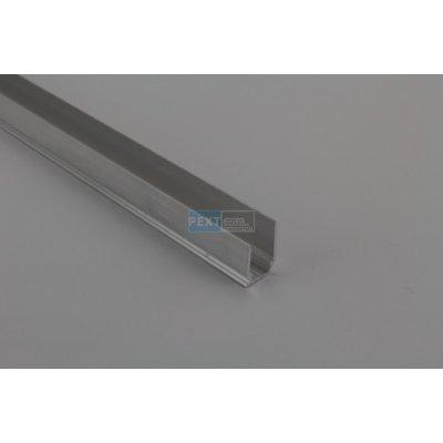 Pext Aluminium U-afsluitprofiel 10mm met druprand 300cm