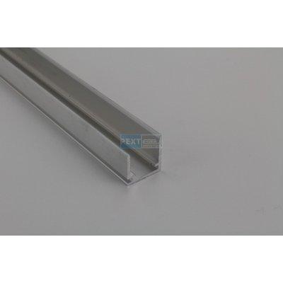 Pext Aluminium U-afsluitprofiel 16mm met druprand 300cm