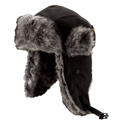 Russische Bontmuts met Oorflappen Zwart maat 62 XL