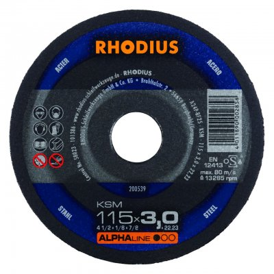 Rhodius doorslijpschijf KSM 115mm Alphaline