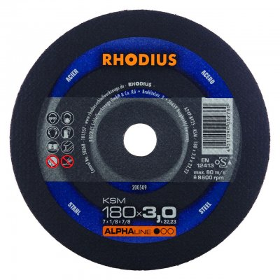 Rhodius doorslijpschijf KSM 180mm Alphaline