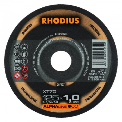 Rhodius doorslijpschijf XT70 125mm Alphaline 10 Stuks