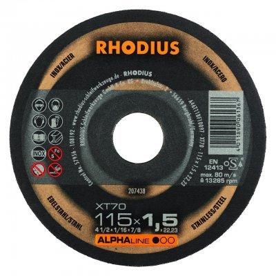 Rhodius doorslijpschijf XT70 115mm Alphaline 10 Stuks