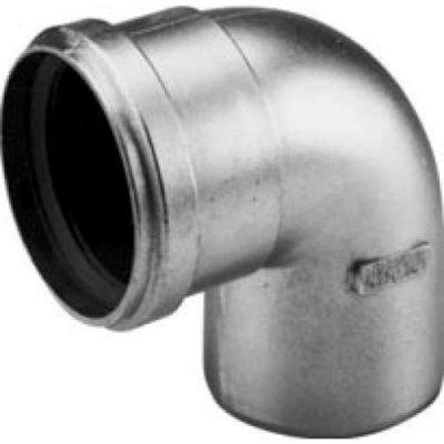 Aluminium fix dikwandig bocht 90grd 80mm